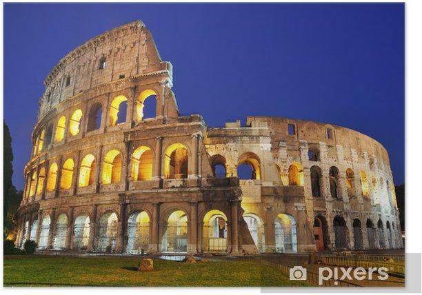 Poster Colosseum in der Dämmerung - Themen