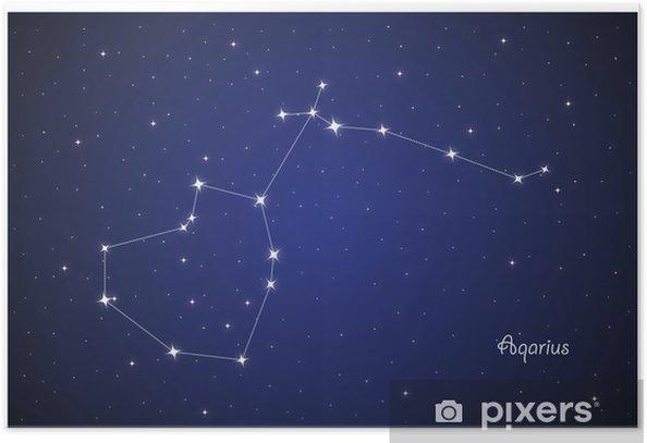 Poster Constellation Aqarius - Himmel