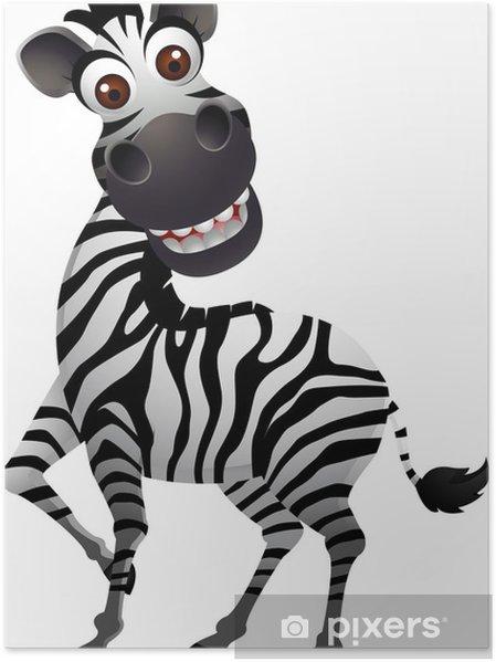 Poster cute zebra cartone animato u2022 pixers® viviamo per il cambiamento