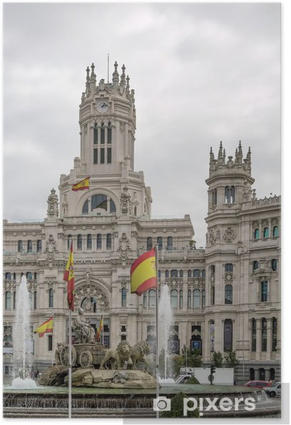 Poster Der Palacio de Comunicaciones, Madrid, Spanien. - Europäische Städte