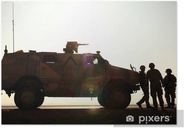 Poster Deutsch-Armee in Afghanistan - Berufe