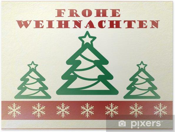 Poster Deutsch Vintage Weihnachtskarte Frohe Weihnachten