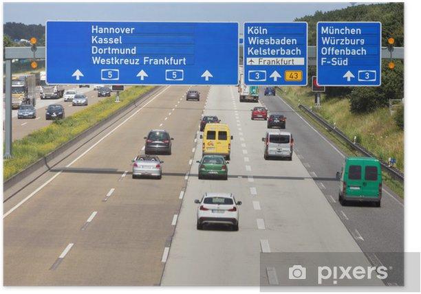 Poster Deutsche autobahn - Straßenverkehr