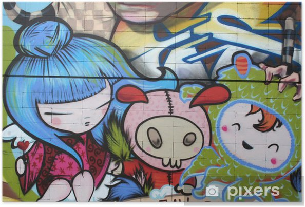 Poster Dibujo Manga Graffiti Arte Urbano Pixers Wir Leben Um