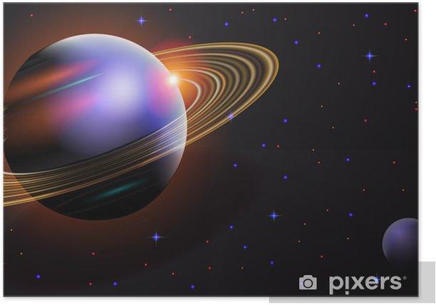 Poster Die kosmische Landschaft - Weltall