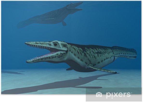 Poster Die mosasaurs - Themen
