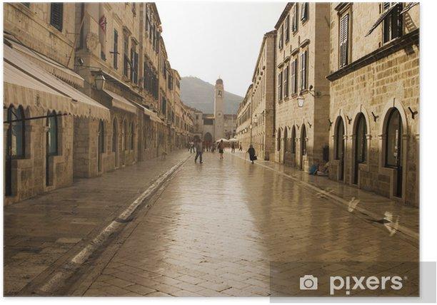 Poster Die Strada, Main Street und Dubrovnik - Europa