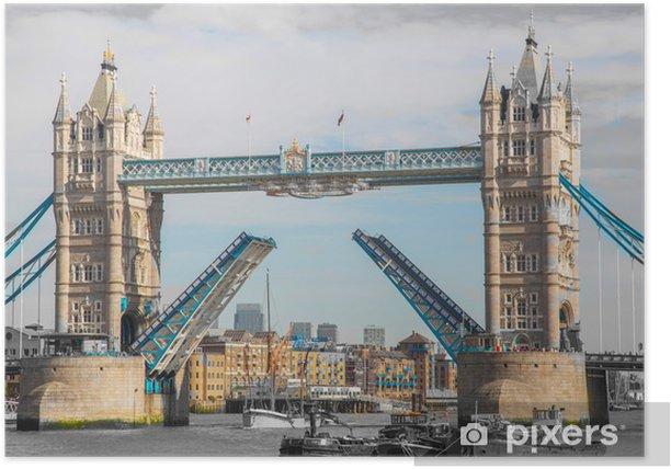 Poster Die Tower Bridge in London. - Themen