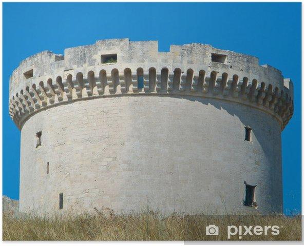 Poster Die Tramontano Castle. Matera. Basilicata. - Urlaub