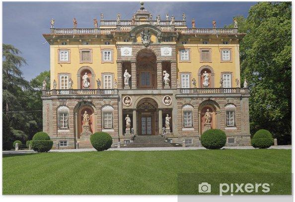 Poster Die Villa Torrigiani in der Toskana - Europa