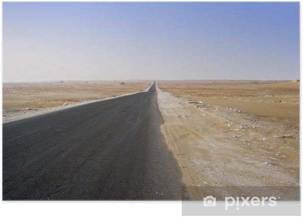 Poster Die Wüste - Infrastruktur