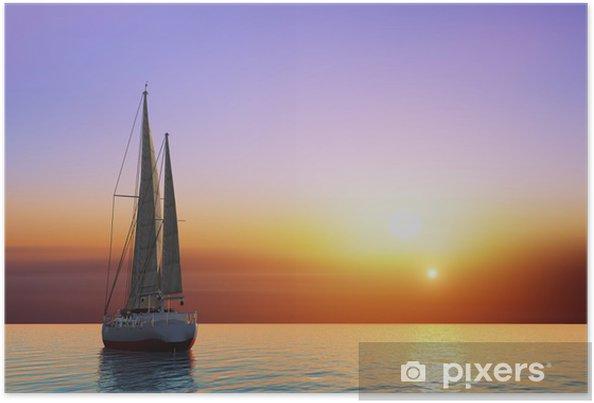 Poster Die Yacht - Ozeanien