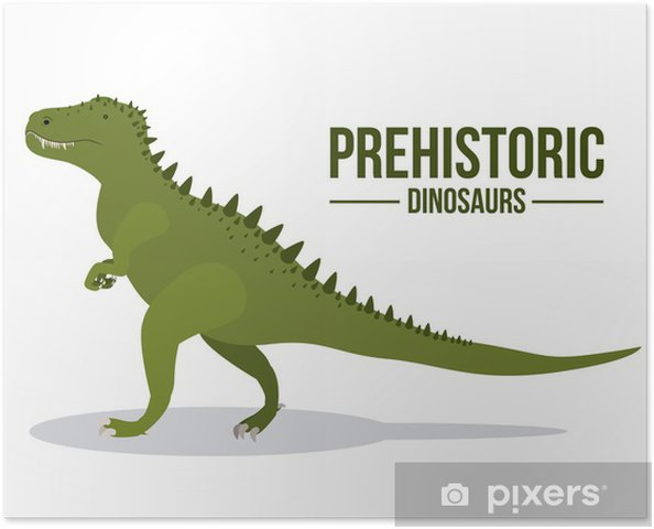 Poster Dinosaurierentwurf - Andere Objekte