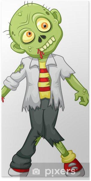 Poster divertente cartone animato zombie u2022 pixers® viviamo per il