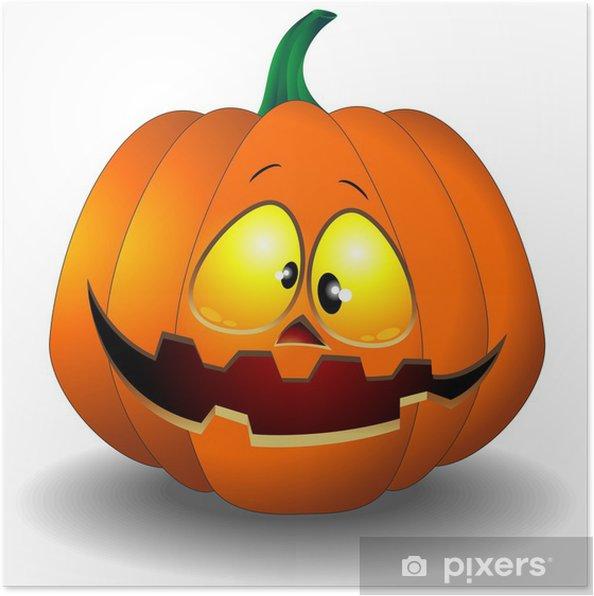 Poster Divertente zucca di Halloween Cartoon-Zucca Buffa - Feste  Internazionali cd968ac2298d