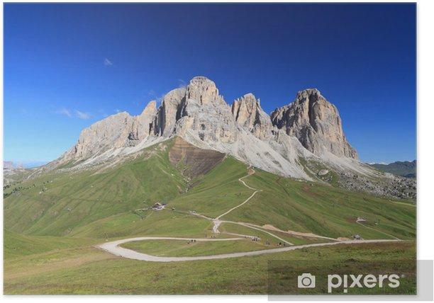 Poster Dolomiti - Sassolungo mount - Europa