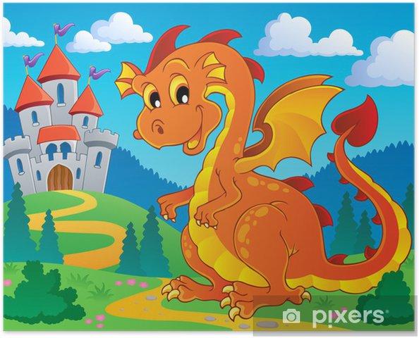 Poster Dragon Thema Bild 9 - Für Kindergartenkind