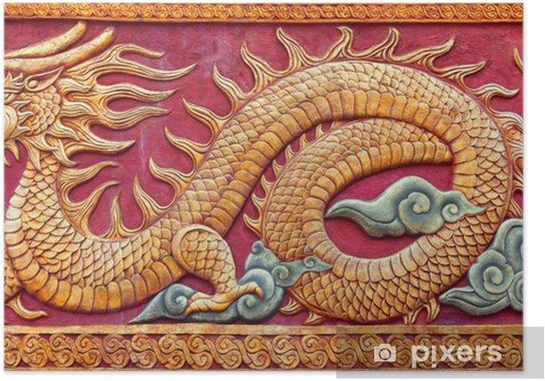Poster Dragone cinese murale • Pixers® - Viviamo per il ...
