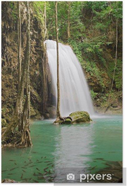 Poster Dschungel wasserfall - Frieden