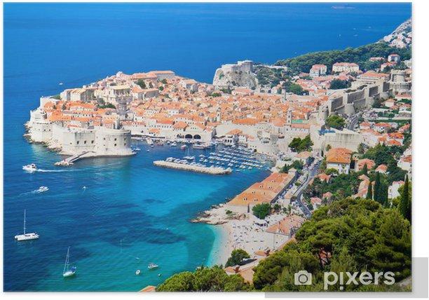 Poster Ein Blick auf eine alte Stadt von Dubrovnik - Themen