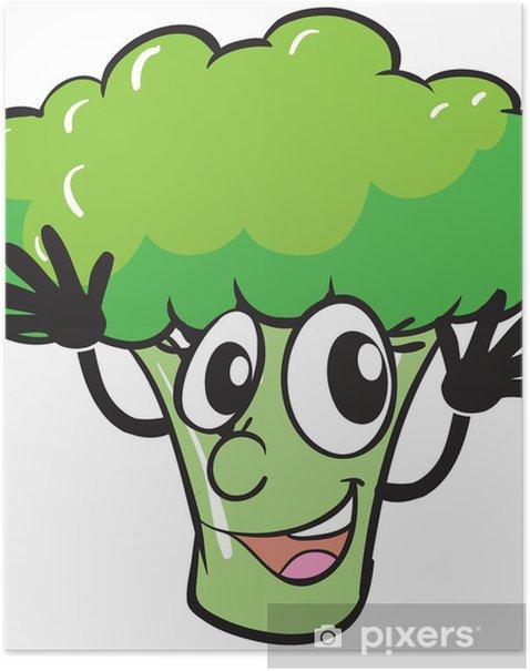 Poster Ein Brokkoli - Wandtattoo