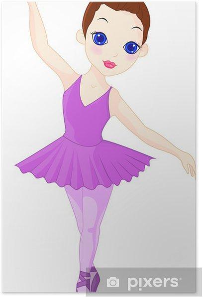 Poster Eine kleine Ballerina - Wandtattoo