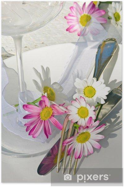 Poster Einladung Zum Geburtstag Romantisch Gedeckter Tisch Pixers