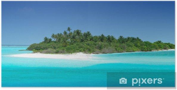 Poster Einsame tropische Insel - Urlaub