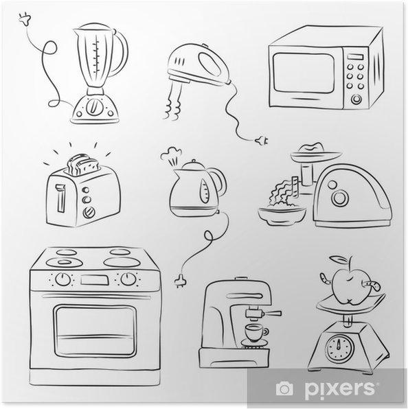 Poster Elettrodomestico da Cucina • Pixers® - Viviamo per il cambiamento