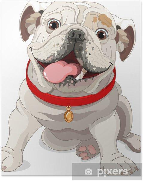 Poster Englische Bulldogge - Wandtattoo