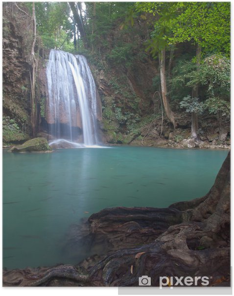Poster Erawan Wasserfall - Asien