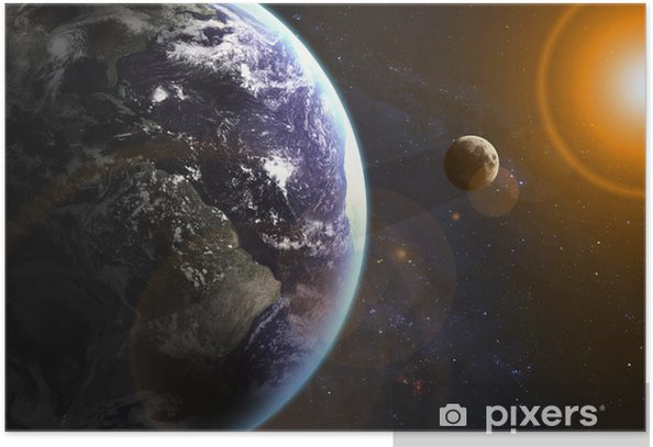 Poster Erde im Raum. Elemente dieses Bildes von der NASA eingerichtet - Universum