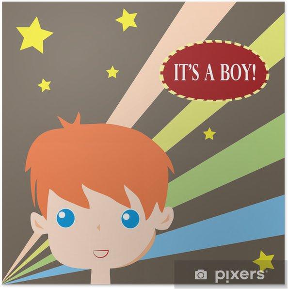 Poster Es ist eine Jungen-Karte -