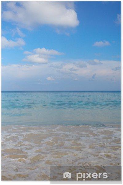 Poster Estate Sfondo Di Sabbia Di Mare E Bella Spiaggia Pixers