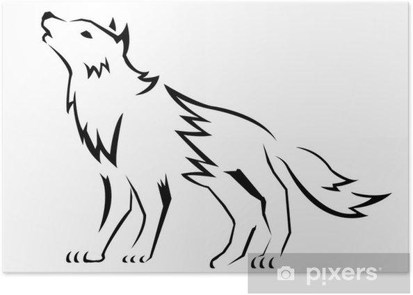 Poster Europaeischer wolf - Säugetiere