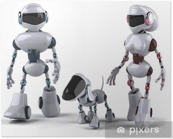 Poster Famille de Roboter - Zeichen und Symbole