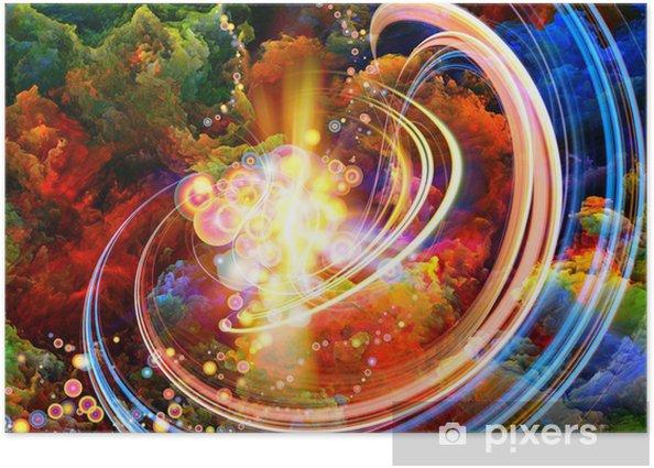 Poster Farben im Inneren - Kunst und Gestaltung