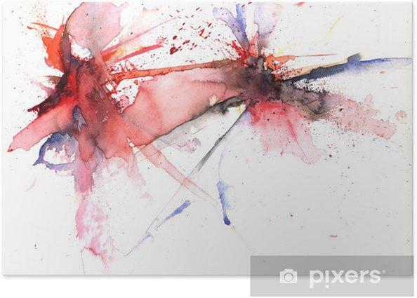 Poster Farbexplosion - Kunst und Gestaltung