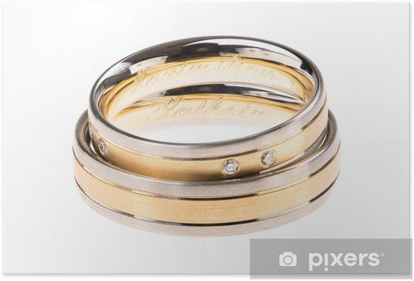 sito affidabile 54138 19308 Poster Fedi nuziali - anelli di nozze con incisione optional