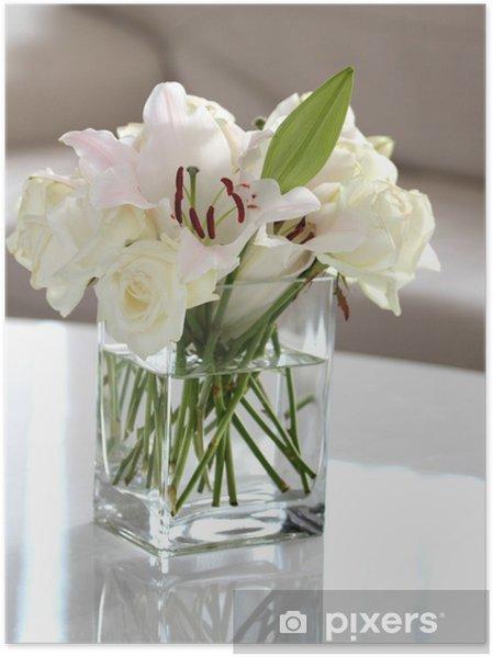 Fiori Bianchi In Vaso.Poster Fiori Bianchi In Un Vaso Pixers Viviamo Per Il Cambiamento