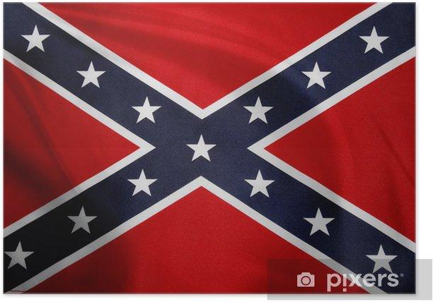 Poster Flagge der Konföderierten. - Themen