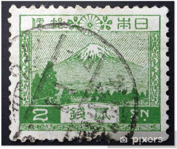 Poster Francobollo Giappone 1926 Vista del Monte Fuji - Asia