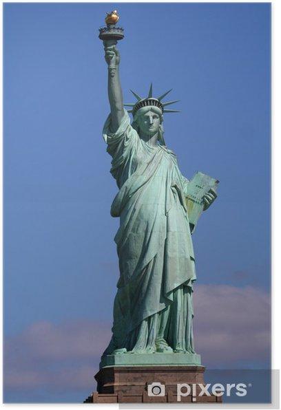 Poster Freiheitsstatue auf dem Stand - Amerika