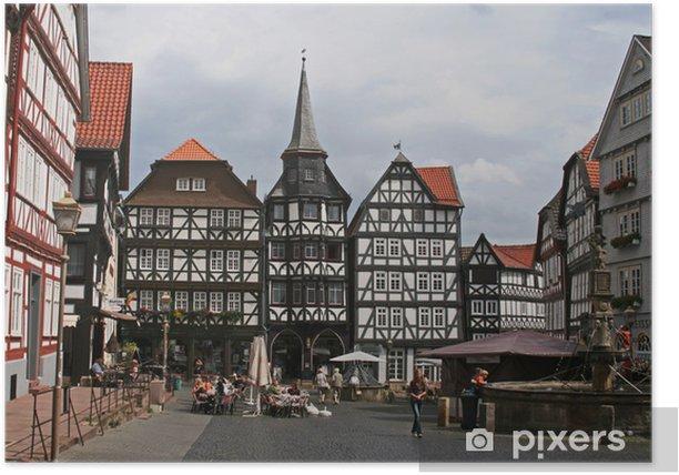 Poster Fritzlar Hessen - Stadt