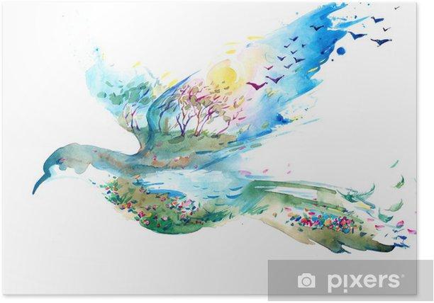 Poster Frühling - Wandtattoo