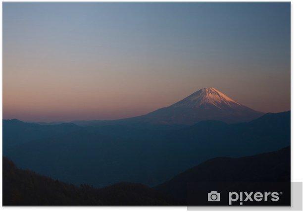Poster Fuji von Kushigatayama - Berge