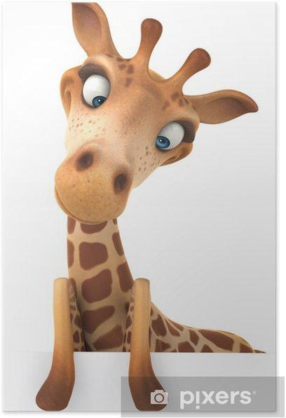Poster Fun Giraffe - Zeichen und Symbole