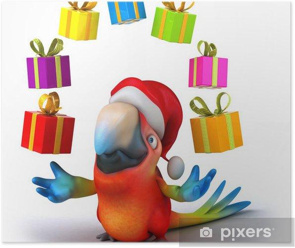 Poster Fun Papagei - Zeichen und Symbole