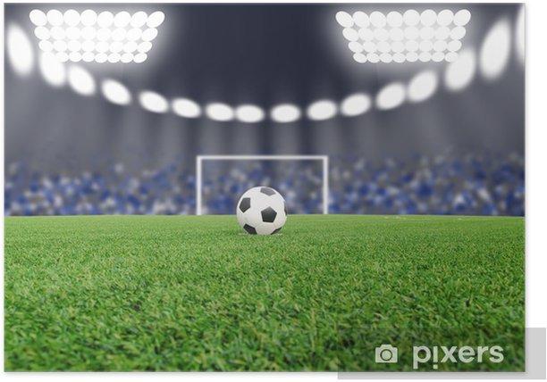 Poster Fußball auf dem Feld im Stadion bei Nacht - Sonstige Gefühle