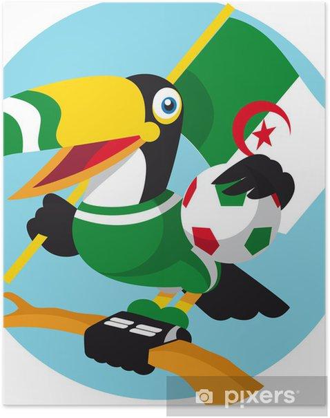 Poster Fußball-Maskottchen - Spiele und Wettbewerbe